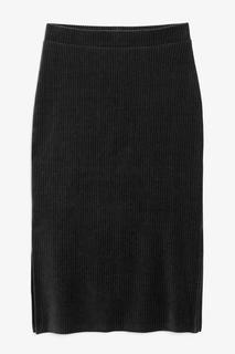 Велюровая юбка миди в рубчик Monki