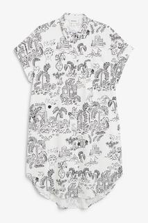Платье-рубашка миди силуэта оверсайз Monki