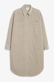 Вельветовоеплатье-рубашка миди Monki