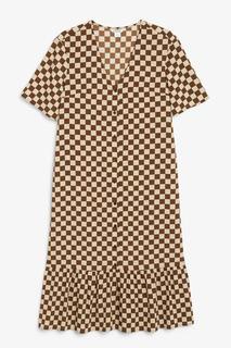 Платье макси с оборками Monki