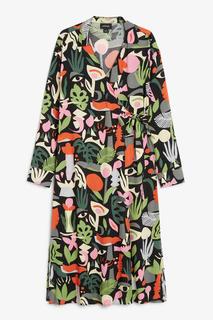 Платье миди с запахом Monki