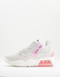 Кроссовки серого и розового цветов Jordan MA2-Розовый цвет