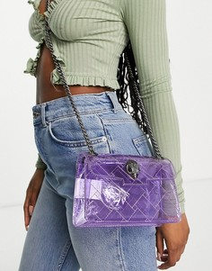 Маленькая прозрачная сумка через плечо сиреневого цвета Kurt Geiger London Kensington-Фиолетовый