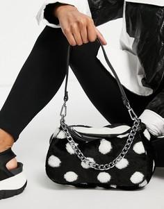 Черно-белая сумка на плечо в горошек Skinnydip JT-Многоцветный