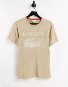 Футболка с принтами логотипа Lacoste Sport-Коричневый цвет