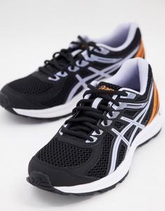 Черные кроссовки с лиловой отделкой Asics Running Gel-Braid-Черный цвет