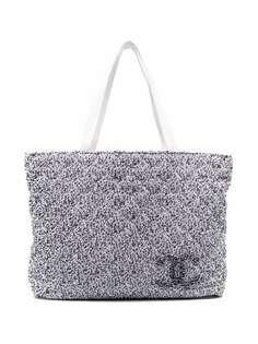Chanel Pre-Owned двусторонняя пляжная сумка 2010-х годов с логотипом CC