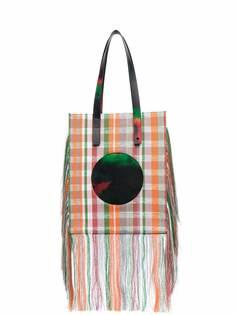 Karl Lagerfeld сумка-тоут с бахромой из коллаборации с Kennet Ize