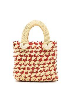 Nannacay соломенная сумка-тоут Belle размера мини