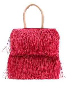 Nannacay соломенная сумка-тоут Gemma с бахромой