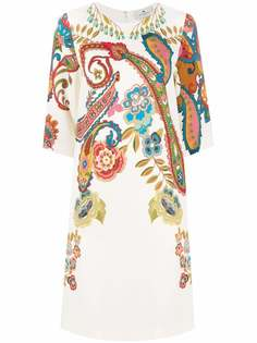 ETRO платье-трапеция с принтом пейсли