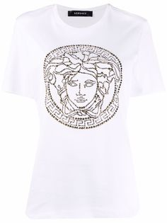 Versace футболка с логотипом Medusa