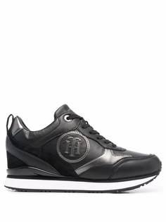 Tommy Hilfiger кроссовки с эффектом металлик