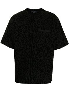 Dolce & Gabbana футболка с леопардовым принтом