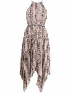 Michael Kors платье со змеиным принтом
