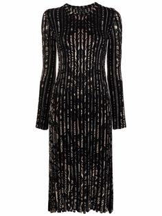 ETRO платье в рубчик с принтом пейсли