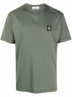 Stone Island футболка с нашивкой-логотипом