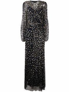 Jenny Packham декорированное вечернее платье из тюля