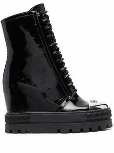 Casadei ботинки на танкетке