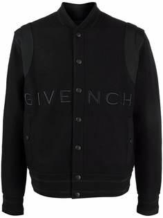 Givenchy бомбер с вышитым логотипом