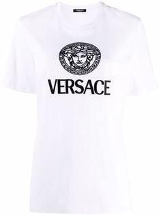 Versace футболка с логотипом