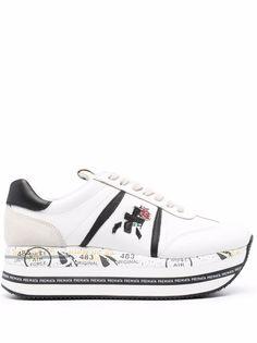 Premiata кроссовки на платформе с логотипом