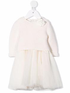 Monnalisa трикотажное платье со вставками