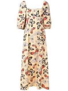 Olympiah платье миди Arctia с принтом