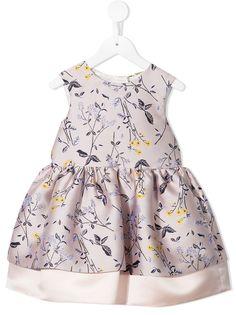 Hucklebones London жаккардовое платье мини с цветочным узором