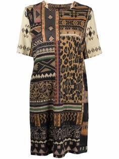 ETRO платье из джерси с узором