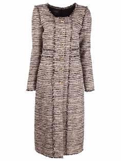 Giambattista Valli приталенное твидовое платье