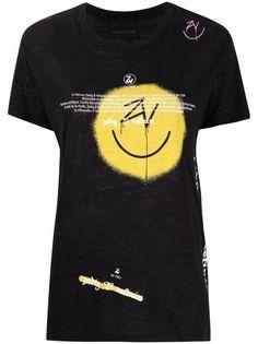 Zadig&Voltaire футболка с принтом граффити