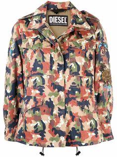 Diesel куртка G-Claudia-CMF с камуфляжным принтом