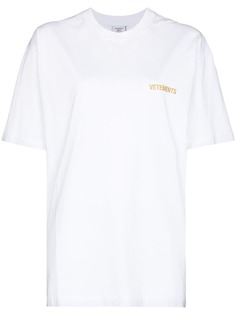 VETEMENTS футболка оверсайз Iconic с логотипом