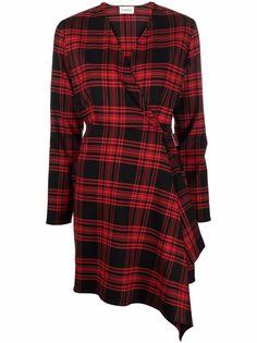 P.A.R.O.S.H. клетчатое платье с запахом