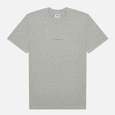 Мужская футболка C.P. Company Jersey Compact Print, цвет серый, размер XL