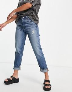 Синие джинсы в винтажном стиле Stradivarius Ultimate Authentic-Голубой