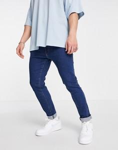 Суженные книзу джинсы узкого кроя Wrangler Larston-Голубой
