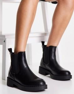 Черные массивные ботинки челси Truffle Collection-Черный цвет