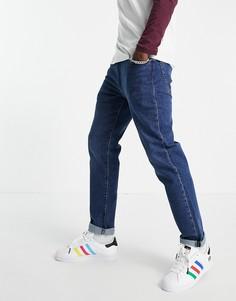 Темно-синие зауженные джинсы Levis-Голубой