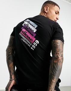 Черная футболка с принтом на спине ellesse Fahie-Черный цвет