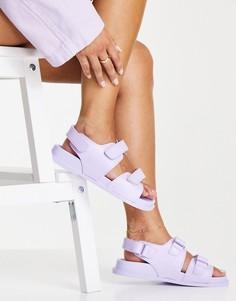 Сиреневые резиновые сандалии ASOS DESIGN France-Фиолетовый цвет