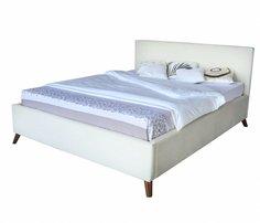 Мягкая кровать Monika БП/М ткань Бежевый 1,6м Bravo