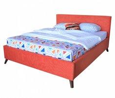 Мягкая кровать Monika БП/М ткань Морковный 1,6м Bravo
