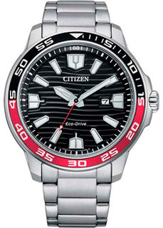 Японские наручные мужские часы Citizen AW1527-86E. Коллекция Eco-Drive