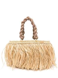 0711 сумка-тоут Malibu с бахромой