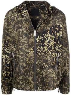 Givenchy куртка с капюшоном и леопардовым принтом
