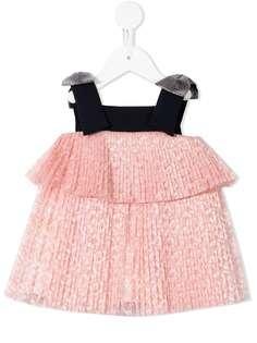 Hucklebones London плиссированное платье-трапеция