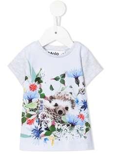 Molo футболка из органического хлопка с цветочным принтом