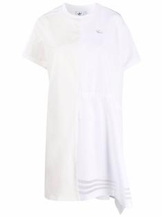 adidas платье-футболка асимметричного кроя